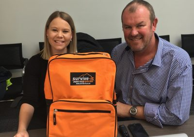 Kylie Sutherland and Andy Lester discuss the importance of an at home emergency kit